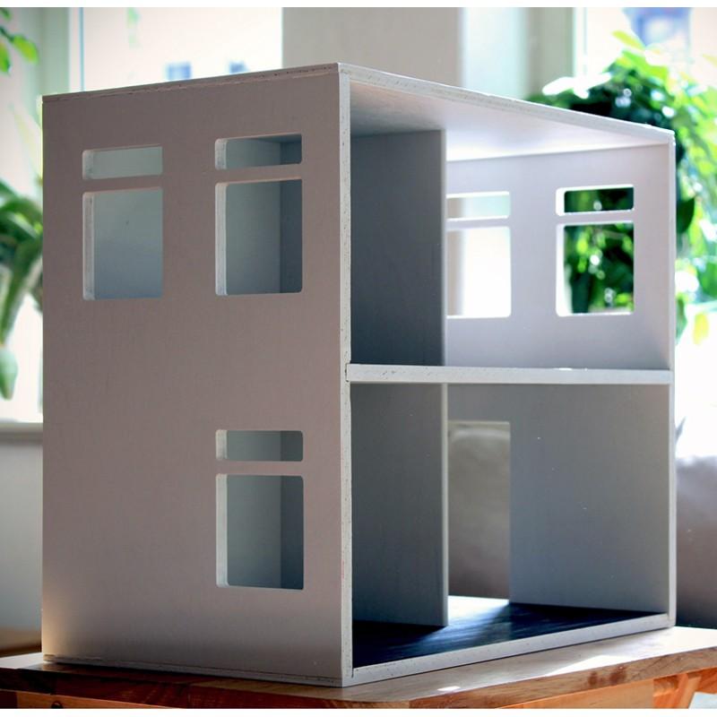 Puppenhaus Holz Haus41 Weiß